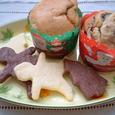 ブルーベリーマフィン&型抜きクッキー