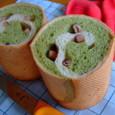 抹茶の渦巻きパン