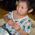 胸にシール・ヒロ(2歳11ヶ月)