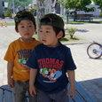 公園で・ヤマヒロ(3歳)