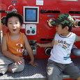 消防車と(3歳2ヶ月)