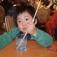 ファミレスで(3歳7ヶ月)ヤマト