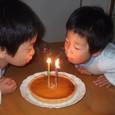 4歳の誕生日にタルト