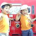 消防車とヤマヒロ
